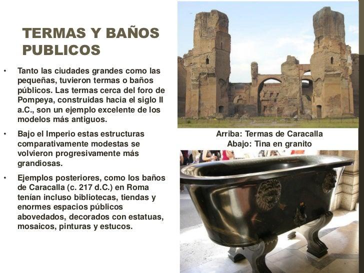 Baños Romanos Merida:Arquitectura Romana Imperial