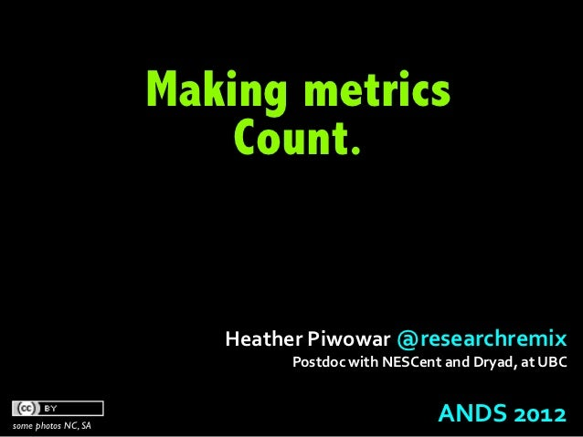 Making metrics Count.