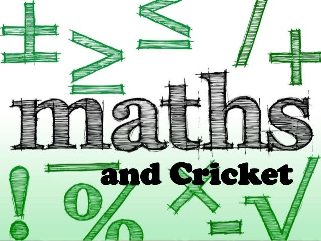 Maths and sports