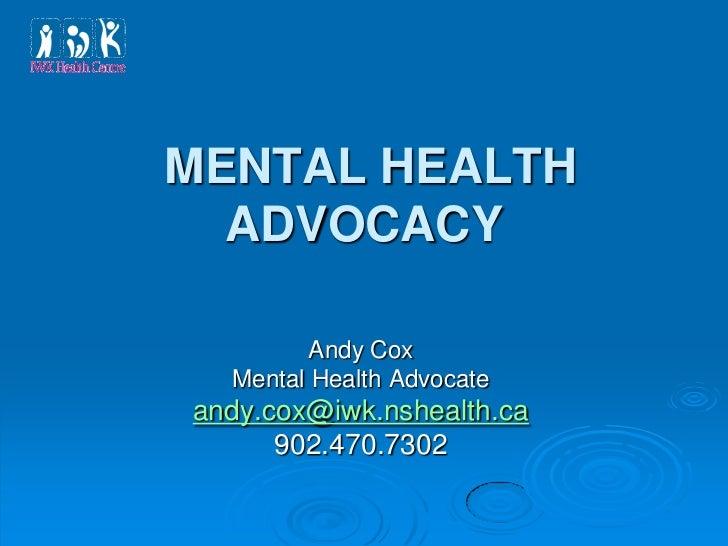 Mental Health Advocacy
