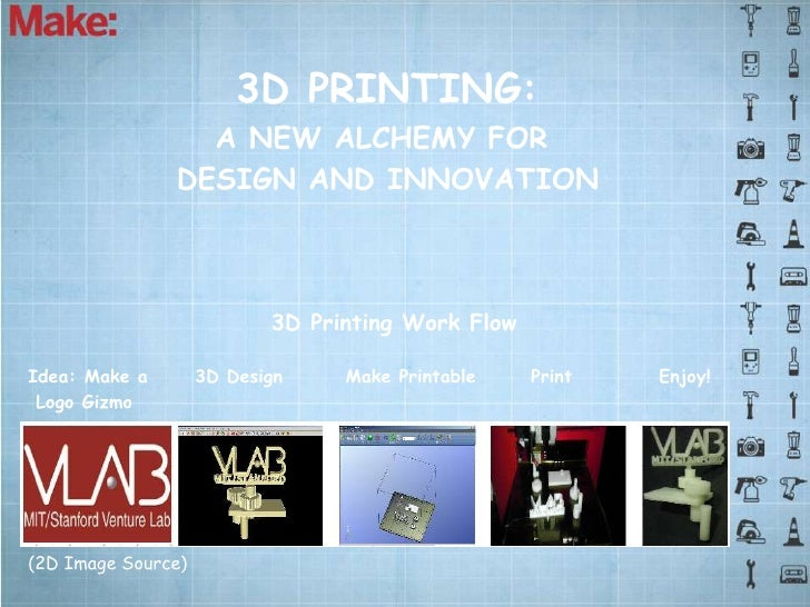 3D PRINTING:                 A NEW ALCHEMY FOR               DESIGN AND INNOVATION                           3D Printing W...