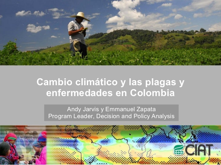 Cambio climático y las plagas y enfermedades en Colombia Andy Jarvis y Emmanuel Zapata Program Leader, Decision and Policy...