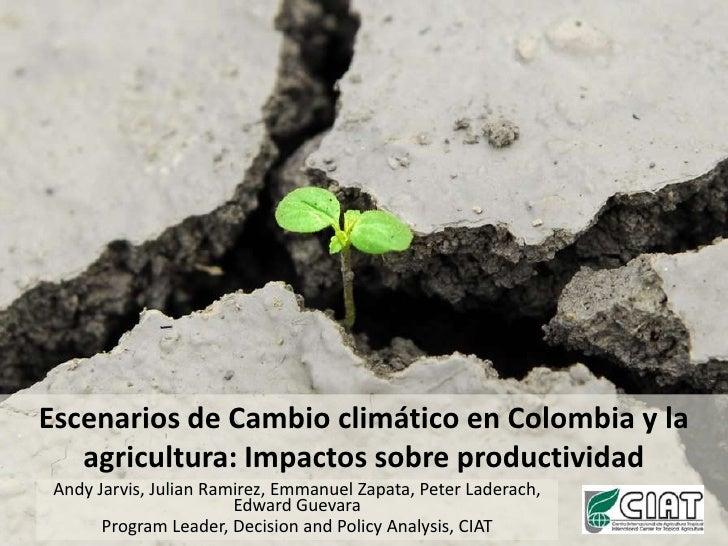 Escenarios de Cambio climático en Colombia y la agricultura: Impactos sobre productividad<br />Andy Jarvis, Julian Ramirez...