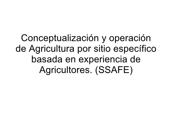 Andy J - Conceptualisation and Operationalisation Of Site Specific Agriculture for the Tropics