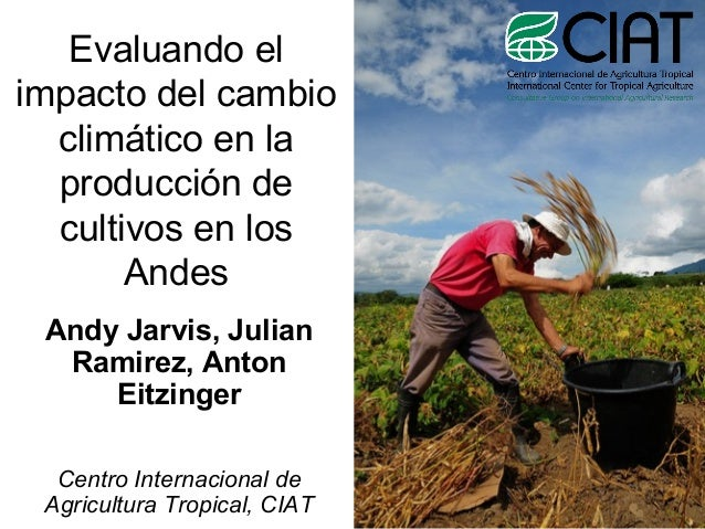 Evaluando el impacto del cambio climático en la producción de cultivos en los Andes Andy Jarvis, Julian Ramirez, Anton Eit...