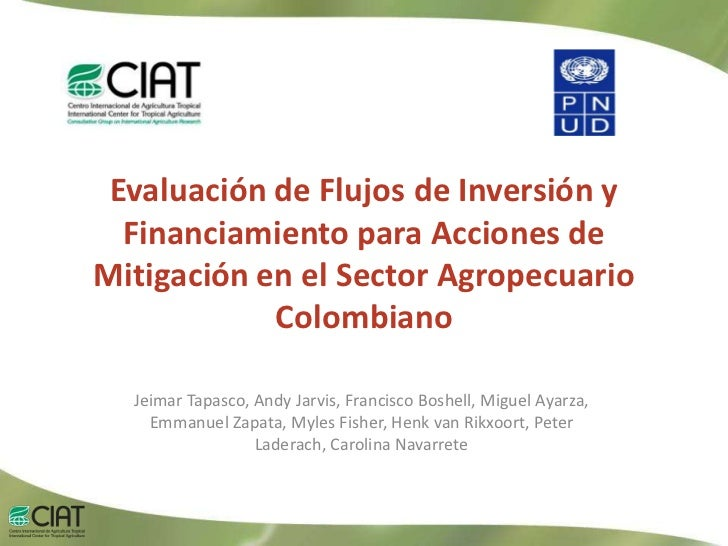 Draft presentation on Colombian agricultural adaptation and mitigation costing study