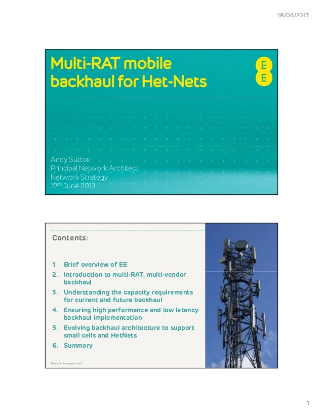 Andy sutton - Multi-RAT mobile backhaul for Het-Nets