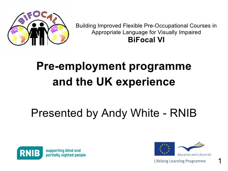 Pre-employment programme