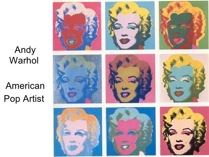 Andy Warhol Pop Artist Andy Warhol  American Pop Artist