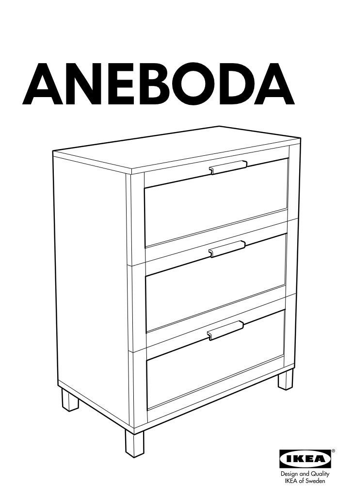 Ikea Patrull Klämma Verlängerung ~ Aneboda chest of drawers with 3 drawers 80x100x40 cm  dr14 pub