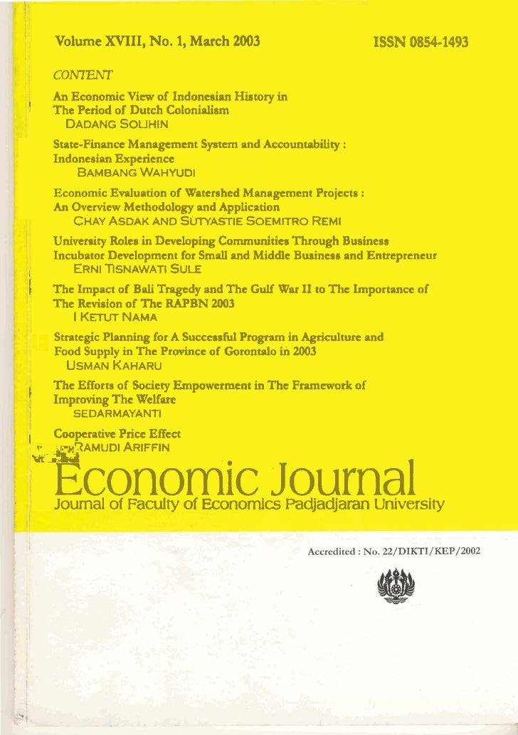 An Economic View of Indonesian History