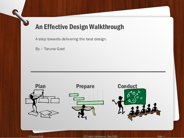 A step towards delivering the best design. By – Taruna Goel Plan Prepare Conduct An Effective Design Walkthrough ©Taruna G...