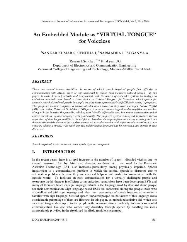 "An embedded module as ""virtual tongue"""