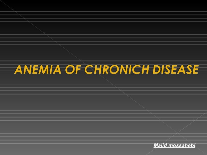 Anemia Of Chronich Disease