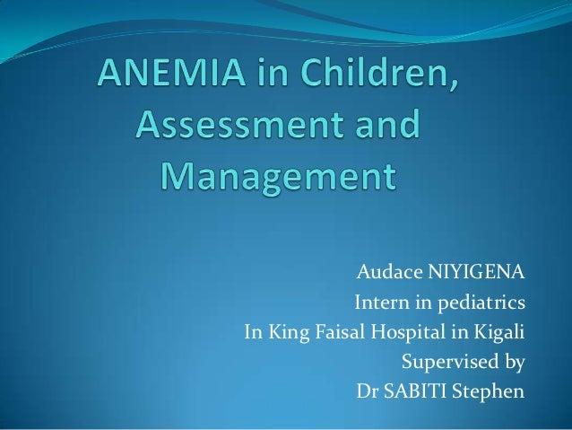 Audace NIYIGENA            Intern in pediatricsIn King Faisal Hospital in Kigali                  Supervised by           ...