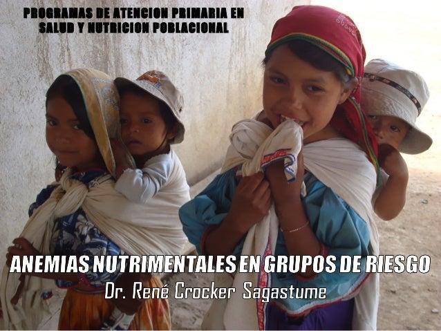PROGRAMAS DE ATENCION PRIMARIA EN  SALUD Y NUTRICION POBLACIONAL