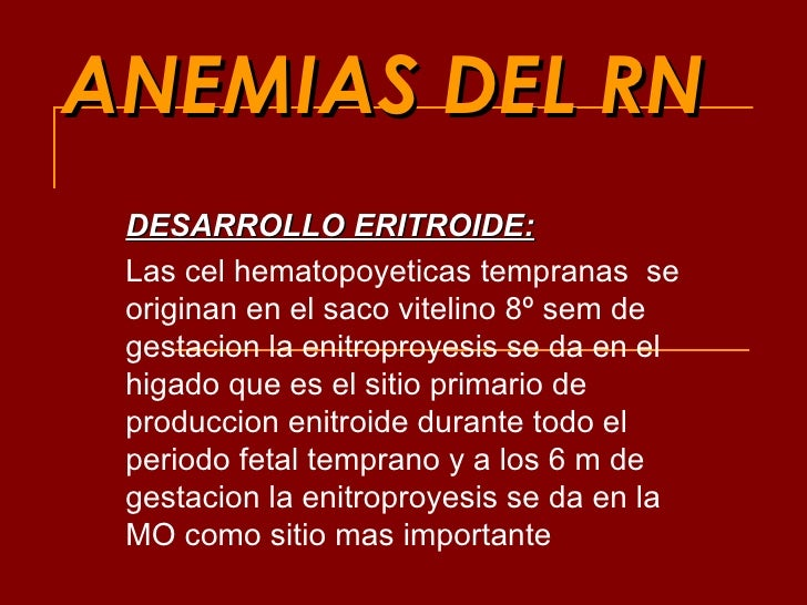 Anemias Del Rn