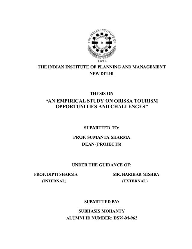 Dissertation on tourism management