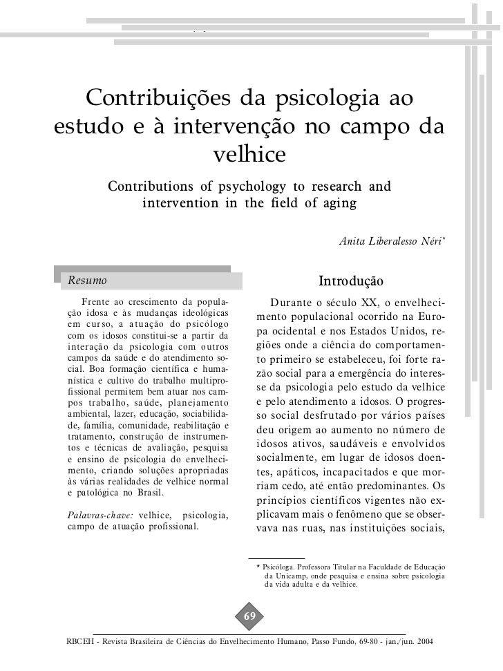 Contribuições da psicologia ao estudo e...   Contribuições da psicologia aoestudo e à intervenção no campo da             ...