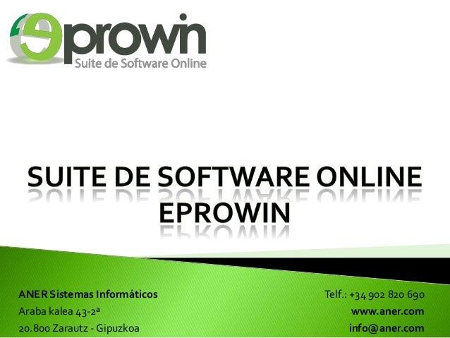 eProwin Suite de Software Online