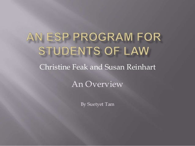 An esp program for students of law