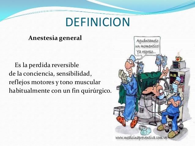 Anestesia general for Definicion de gastronomia pdf