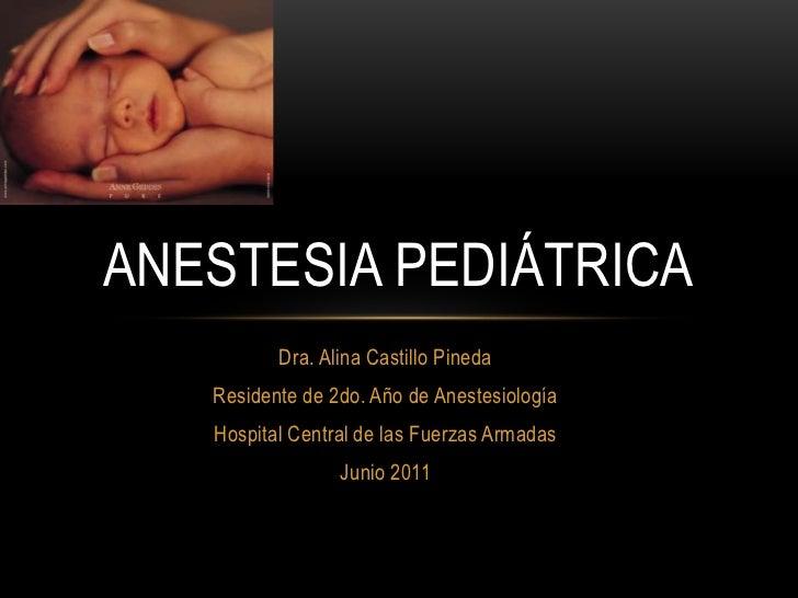 Dra. Alina Castillo Pineda<br />Residente de 2do. Año de Anestesiología<br />Hospital Central de las Fuerzas Armadas<br />...