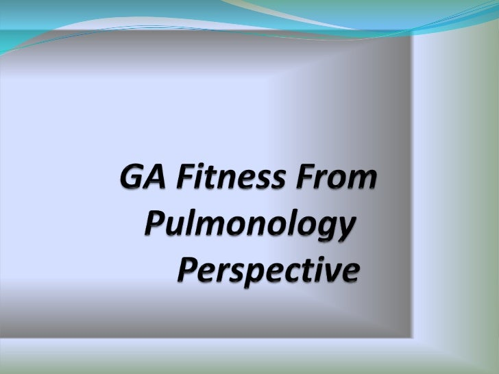 Anesthesia fitness from pulmonology perspective