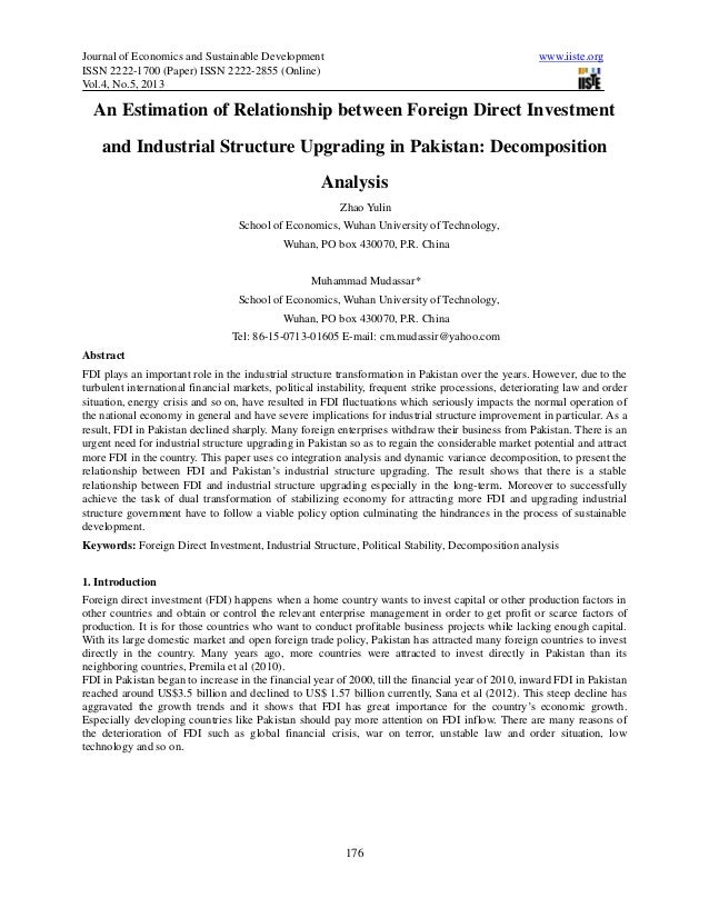 Journal of Economics and Sustainable Development www.iiste.orgISSN 2222-1700 (Paper) ISSN 2222-2855 (Online)Vol.4, No.5, 2...