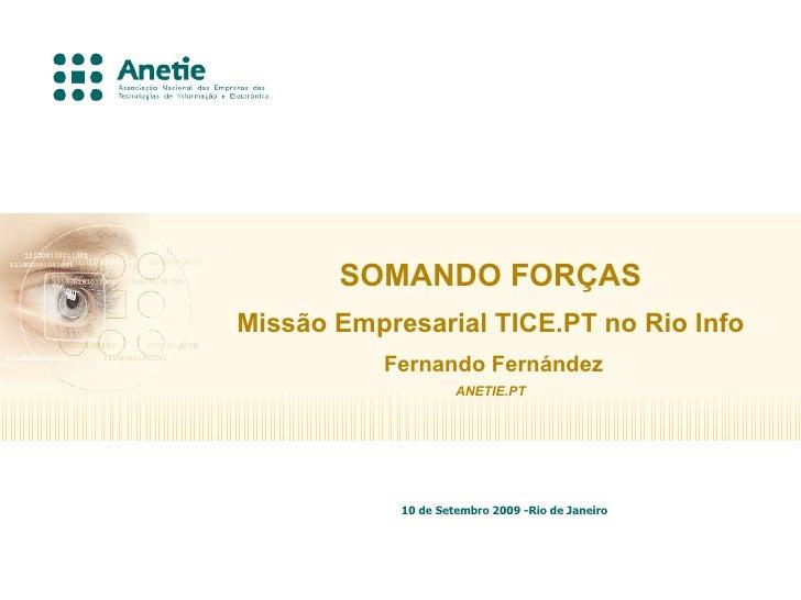 ANETIE - MISSÃO BRASIL'09