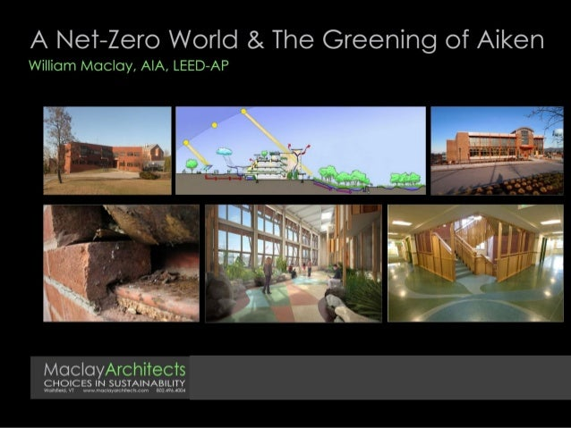 A Net-Zero World and The Greening of Aiken