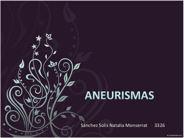 Sánchez Solis Natalia Monserrat  3326