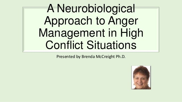 A Neurobiological Approach to Anger Management in High Conflict Situations Presented by Brenda McCreight Ph.D.
