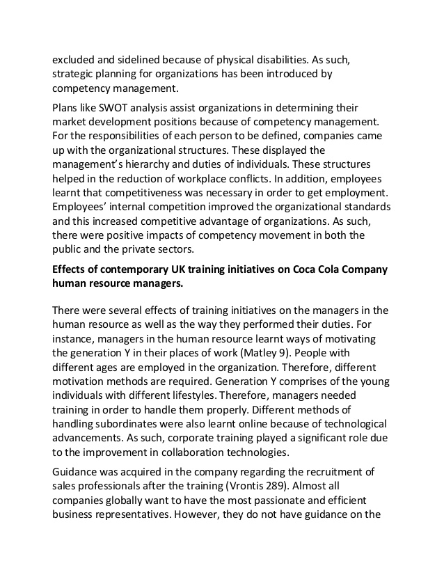 Coca Cola Management Strategy Commerce Essay - UK Essays