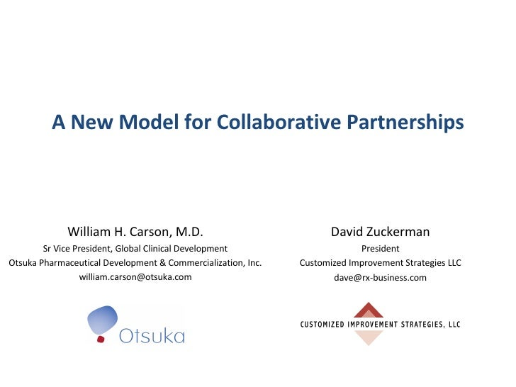 A New Partnering Alliance Approach At Otsuka