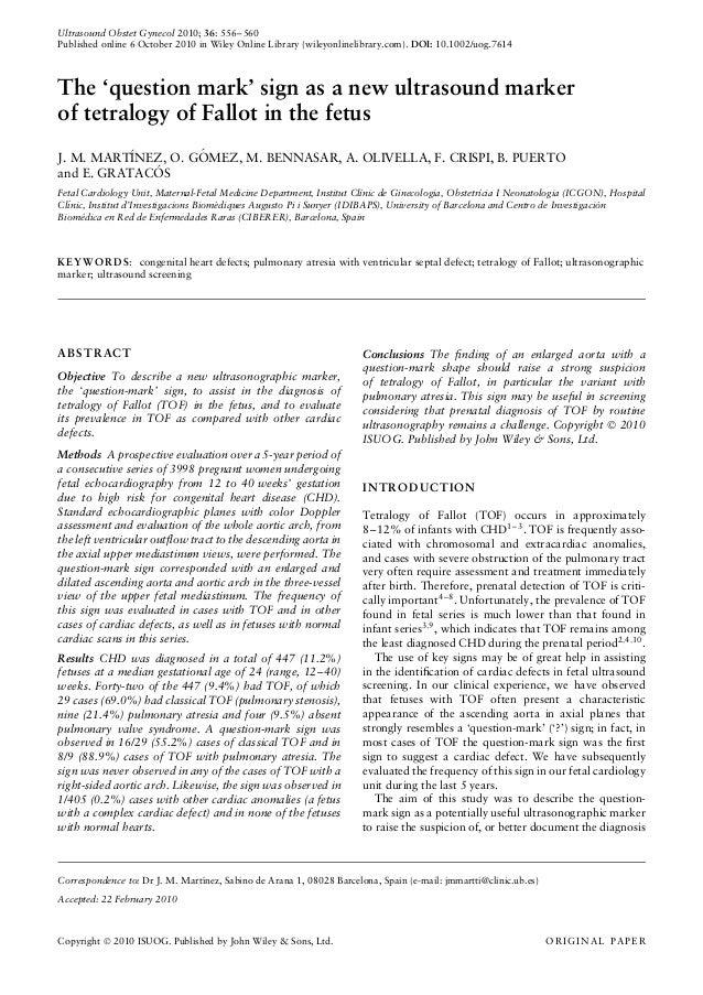 A new ultrasound marker of tetralogy of fallot