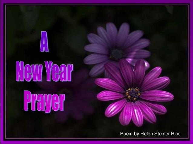 A newyear prayer