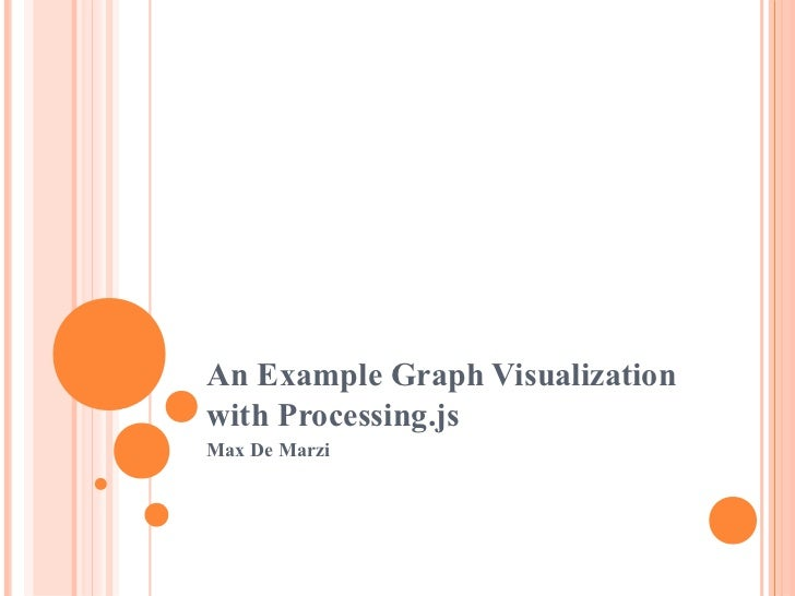 An example graph visualization with Processing.js