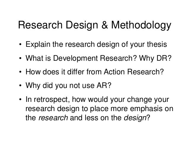 methodology of a thesis paper