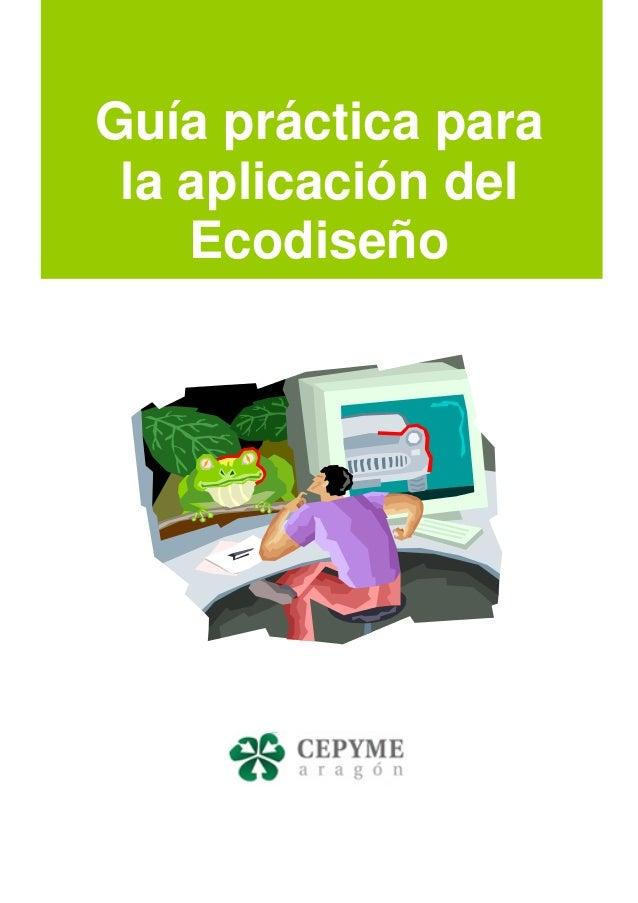 Guía práctica para la aplicación del Ecodiseño
