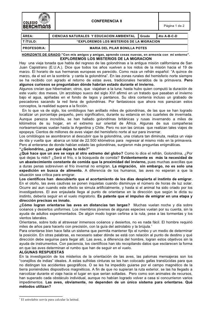 Anexo 7 2008 9 Conferencia 8 Misterios De La Migracion  Iii Periodo