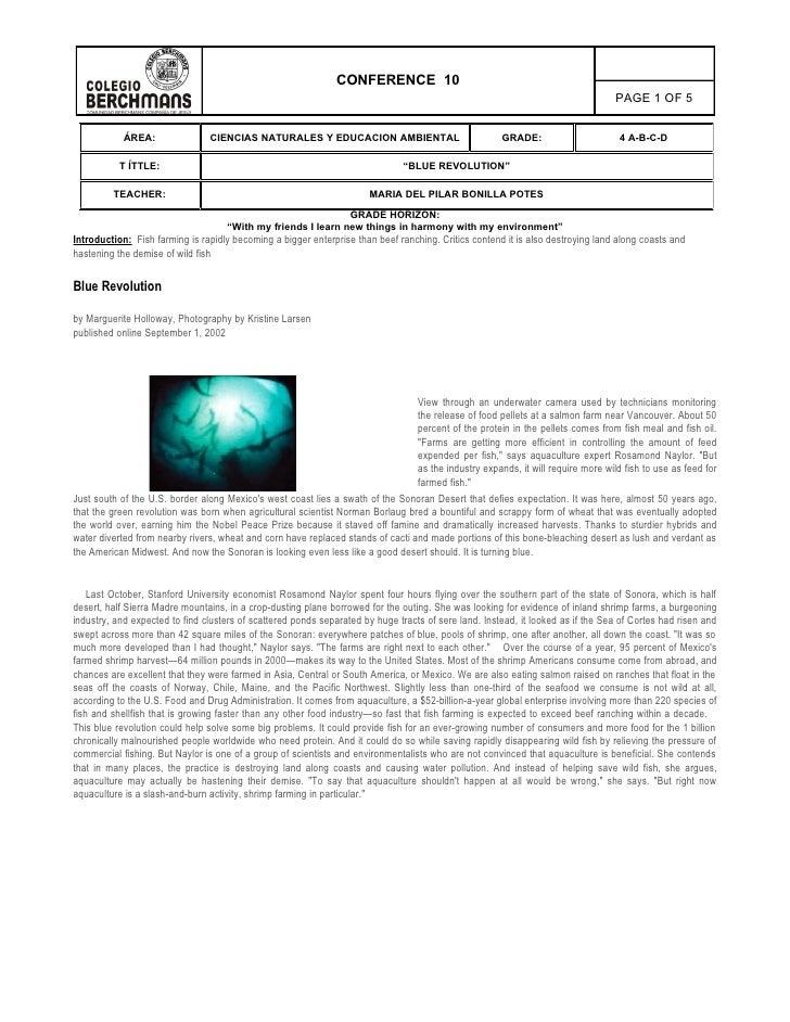 Anexo 8 2008 9 Conferencia 10 Blue Revolution Iii Periodo