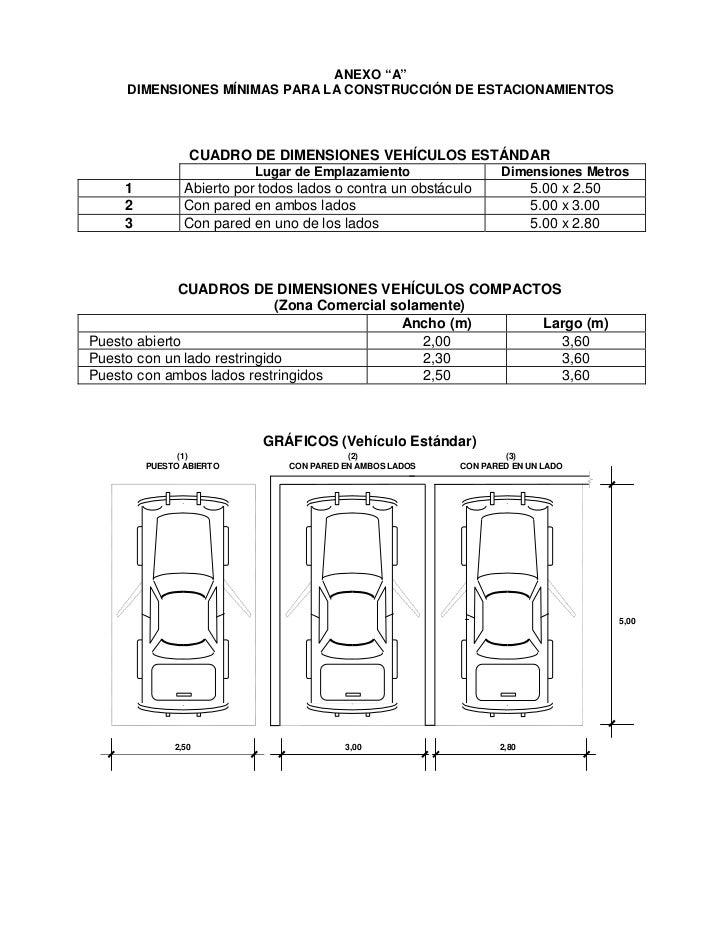 Anexo a for Medidas de un carro arquitectura