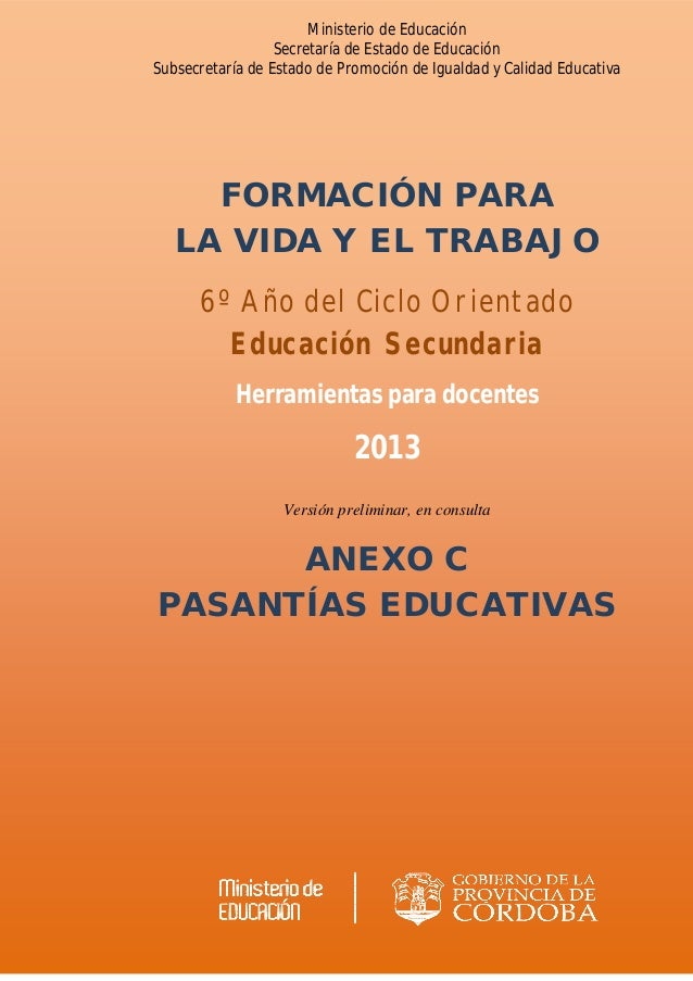 Ministerio de Educación Secretaría de Estado de Educación Subsecretaría de Estado de Promoción de Igualdad y Calidad Educa...