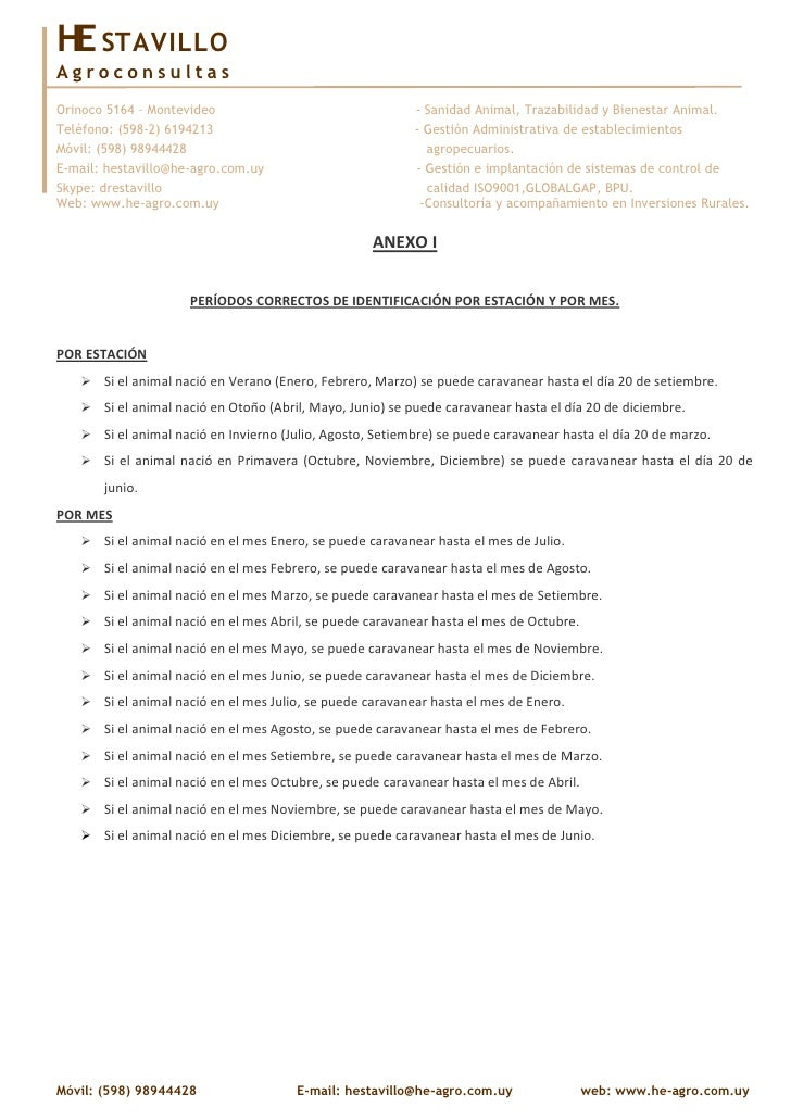 Anexo i   periodos de identificacion de terneros
