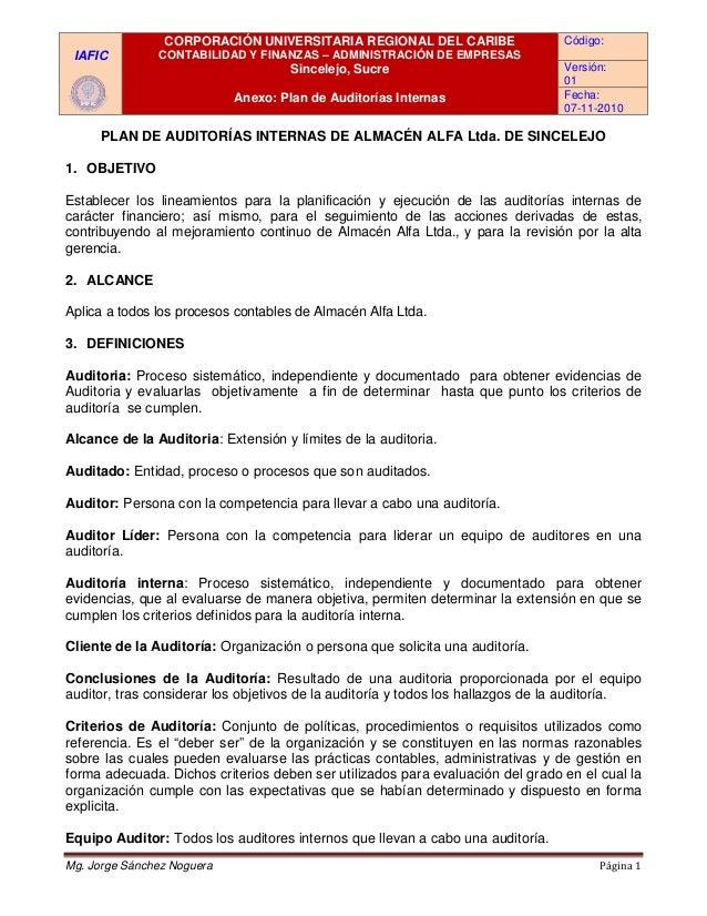 IAFIC CORPORACIÓN UNIVERSITARIA REGIONAL DEL CARIBE CONTABILIDAD Y FINANZAS – ADMINISTRACIÓN DE EMPRESAS Sincelejo, Sucre ...