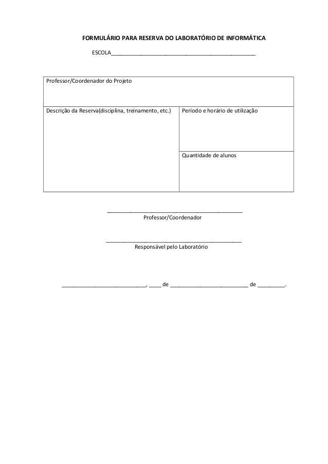 Anexos   formulário para reserva do laboratório de informática