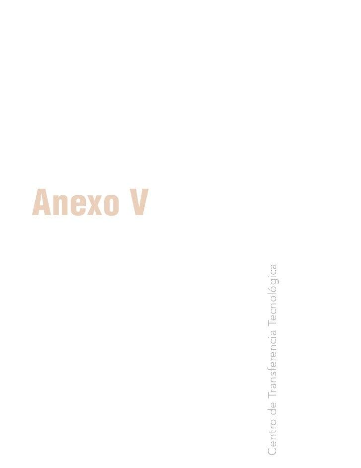 Anexo V Centro de Transferencia Tecnológica