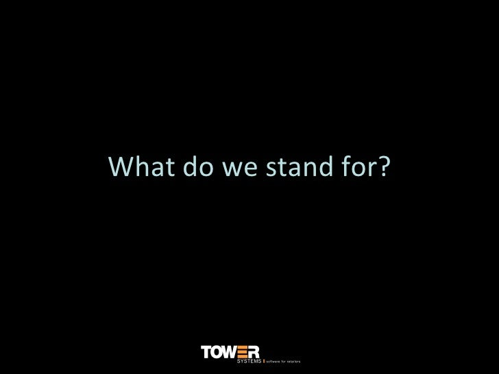 What do we stand for?