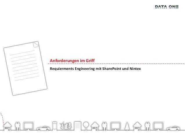 Anforderungen im Griff – Requierments Engineering mit SharePoint und Nintex
